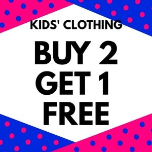 🎊👦🧒BUY 2 GET 1 FREE ON KIDS CLOTHING🧒👦🎊